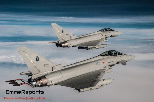 Perde il contatto radio, caccia Eurofighter intercettano un velivolo civile