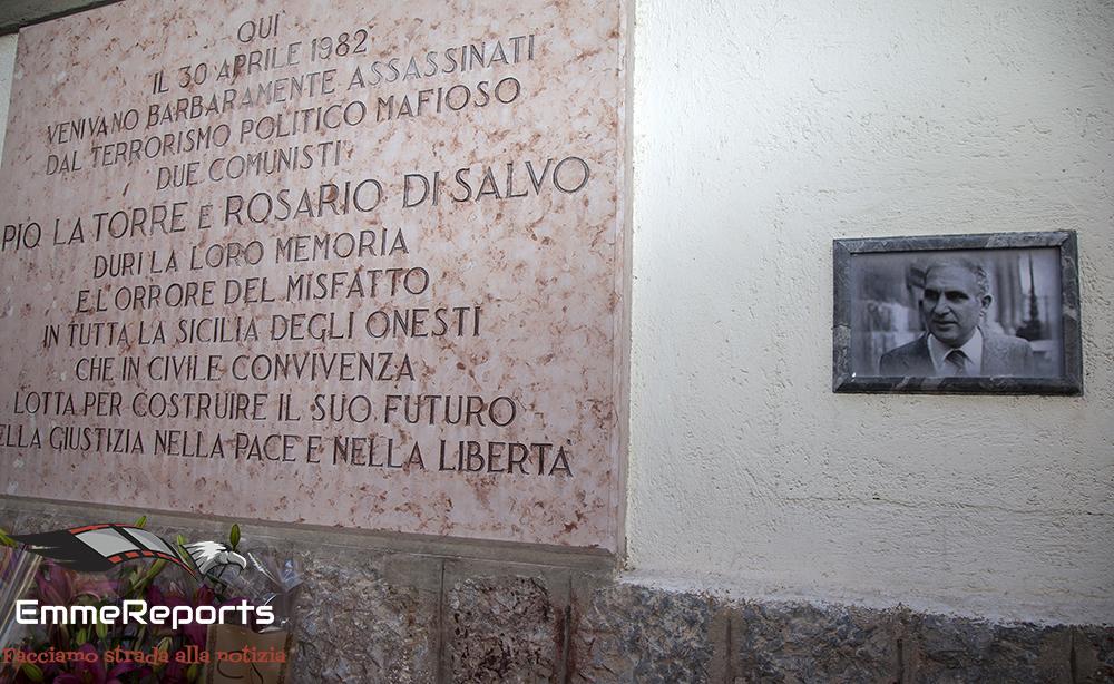 38° Anniversario, senza commemorazioni a causa del Covid19, dell'uccisione di Pio La Torre e Rosario Di Salvo da parte della mafia siciliana.