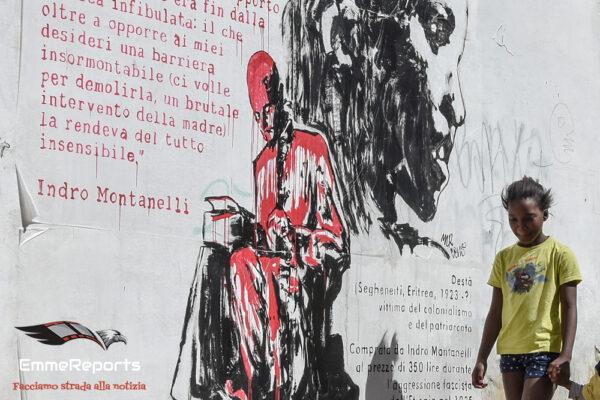 Palermo, realizzato un poster contro Montanelli