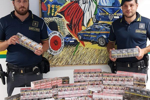 Guardia di Finanza: sequestrati oltre 16 kg di sigarette di contrabbando