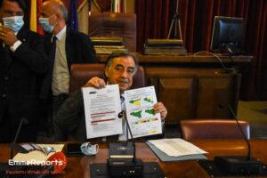 Seduta telematica del Consiglio Comunale, l'intervento del sindaco Orlando sull'alluvione