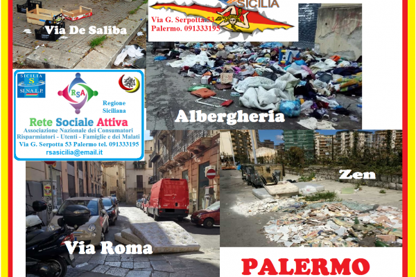 """Rete Sociale Attiva ed Enbilgen Sicilia: """"E' una lenta morte quella di Palermo"""""""