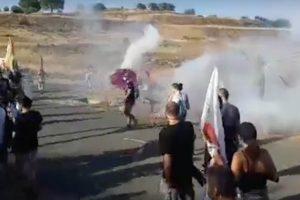 No Muos, lacrimogeni contro i manifestanti