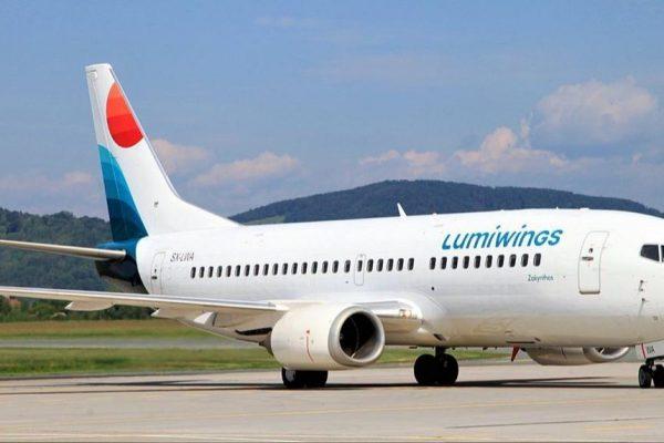La compagnia aerea greca Lumiwings atterra a Trapani Birgi